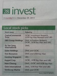 stock pick 2014_