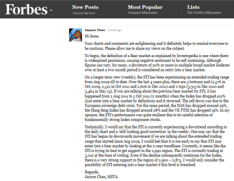 Forbes comments